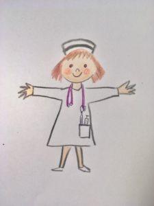 rysunek pielęgniarki