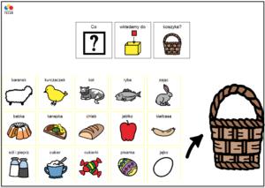 Tablica AAC co wkładamy do koszyczka wielkanocnego